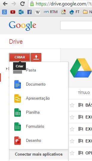 Planilha do Google Drive