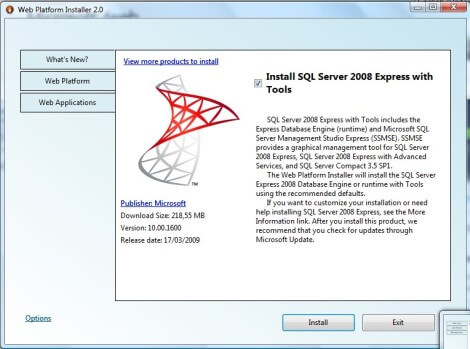 Download do SQL Server 2008