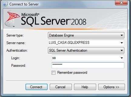 Login SQL Server 2008