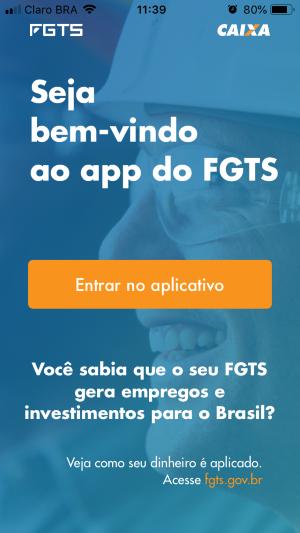 Aplicativo FGTS da Caixa