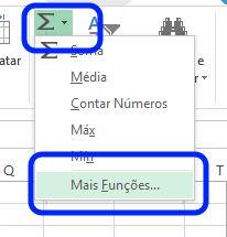 Criar fórmula Excel