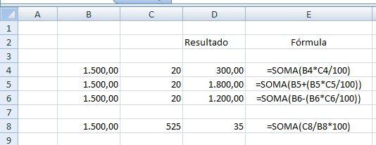 porcentagem no Excel